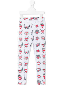 Caroline Bosmans printed leggings - White