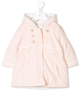 Chloé Kids hooded padded jacket - Nude & Neutrals