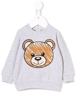 Moschino Kids teddy bear sweatshirt - Grey