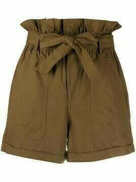 Mes Demoiselles waist-tied shorts - Green