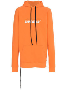 Unravel Project logo longline hoodie - Yellow & Orange