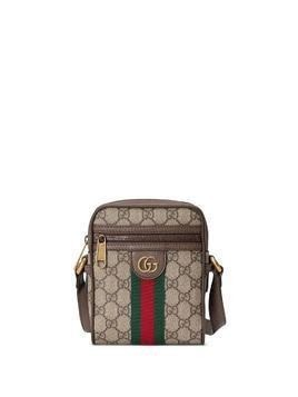 Gucci Ophidia GG stripe shoulder bag - Brown
