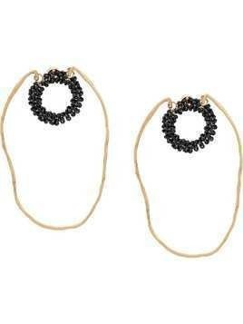 Jacquemus hoop earrings - Black