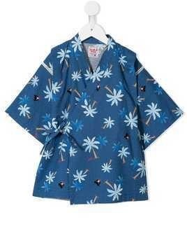 Miki House printed two-piece suit - Blue