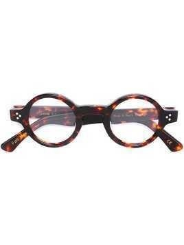 Lesca 'Burt 424' glasses - Brown