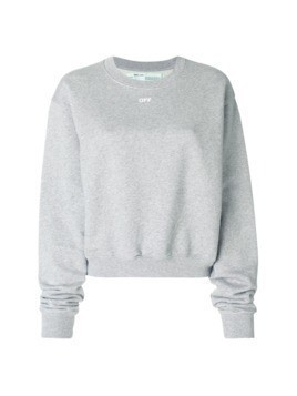 Off-White logo sweatshirt - Grey