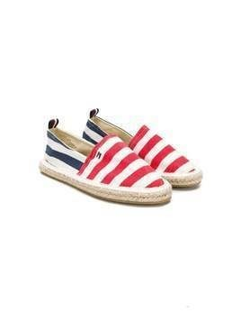 Tommy Hilfiger Junior striped espadrilles - White