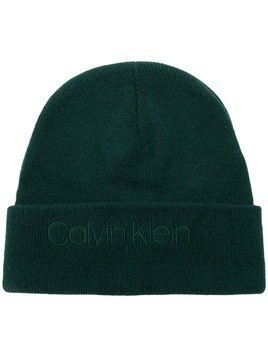 Calvin Klein embroidered logo beanie - Green