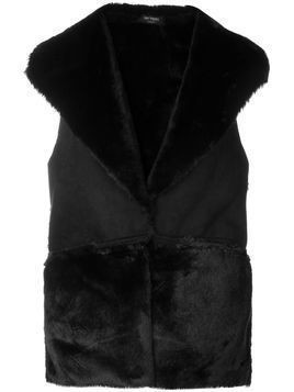 Twin-Set fitted fur gilet - Black
