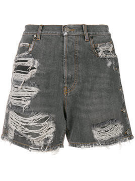 Faith Connexion distressed denim shorts - Black