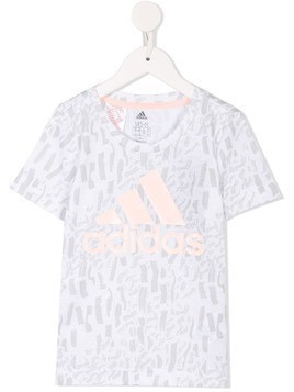 Adidas Kids logo print T-shirt - Multicolour