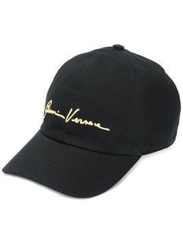 Versace Gianni Versace embroidered cap - Black