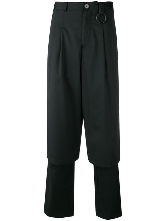 Necessity Sense layered tailored trousers - Black