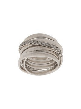 Chin Teo layered cage ring - Silver