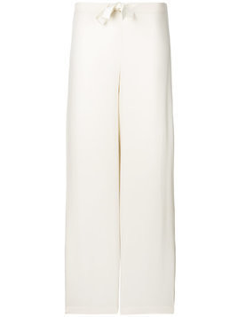 Max & Moi bow flared trousers - Neutrals