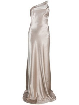 Galvan Roxy one-shoulder evening dress - Gold