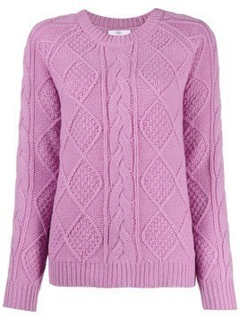 Allude Treccia knit jumper - PURPLE