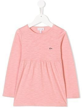 Lacoste Kids gathered long sleeved T-shirt - Pink