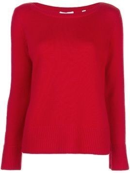 Vince ribbed trim jumper - Red