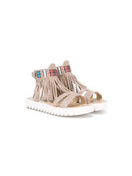 Andrea Montelpare fringed sandals - Brown