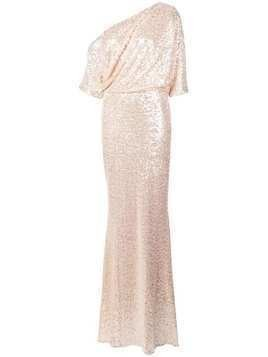 Badgley Mischka off shoulder sparkle gown - Neutrals