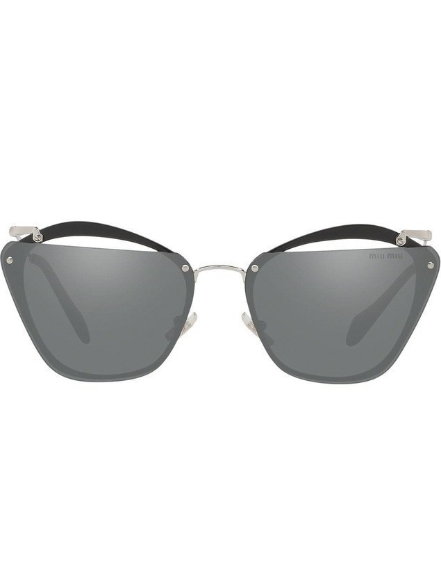 Miu Miu Eyewear cut out Rasoir sunglasses - Grey