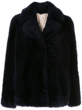 Yves Salomon Army shearling long sleeve jacket - Black