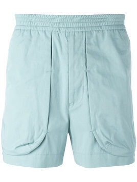 Qasimi external pockets shorts - Blue