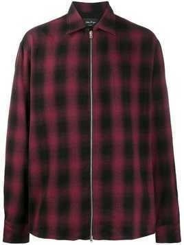 Andrea Ya'aqov check print jacket - Red