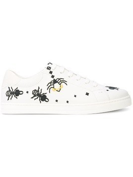 Fendi insect embroidered sneakers - White