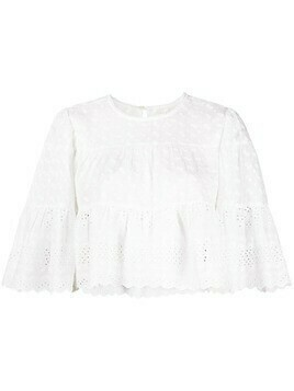 Isabel Marant Étoile scalloped-edge cotton blouse - White