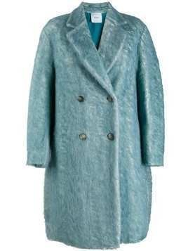 Agnona double breasted coat - Blue