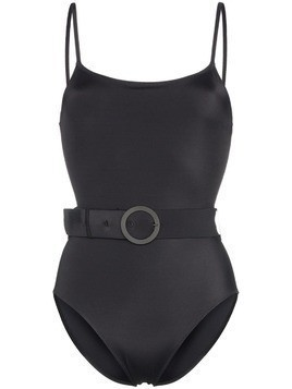 Solid & Striped Nina belted swimsuit - Black