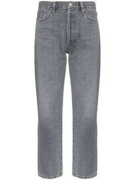 Goldsign cropped straight leg jeans - Grey