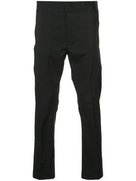 Ann Demeulemeester high-waisted flat front trousers - Black