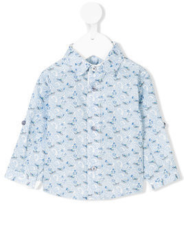 Cashmirino - Boat print shirt - Kinder - Cotton - 18 mth - Blue