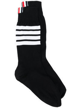 Thom Browne 4-Bar stripe socks - Black