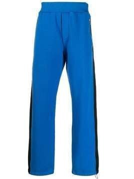 Marni contrast panel track pants - Blue