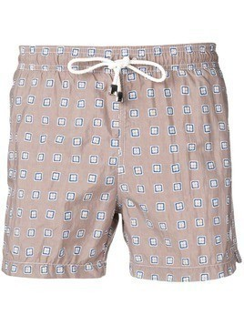 Borrelli patterned swim shorts - Grey