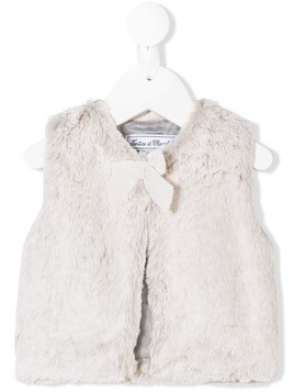 Tartine Et Chocolat furry gilet - Grey