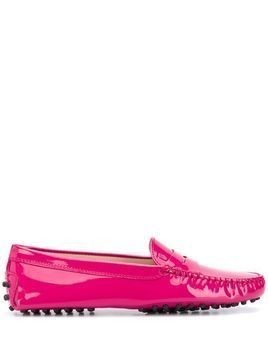 Tod's patent leather Gommino loafers - Pink
