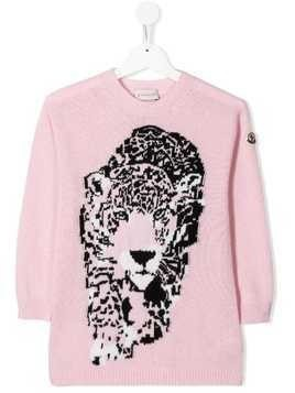 Moncler Kids Tiger knit dress - Pink