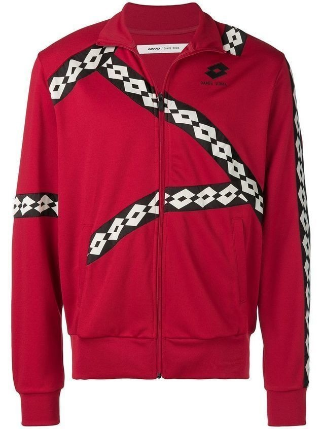 Damir Doma Damir Doma x Lotto panelled jacket - Red