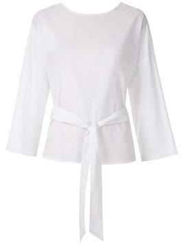 Andrea Marques belted wrap blouse - White