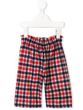 Il Gufo elasticated-waist check trousers - Red