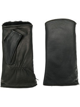 Agnelle fingerless gloves - Black