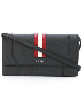 Bally stripe shoulder bag - Black