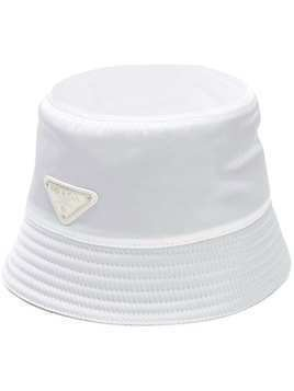 Prada logo bucket hat - White