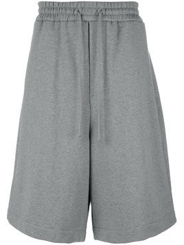 Juun.J embroidered track shorts - Grey