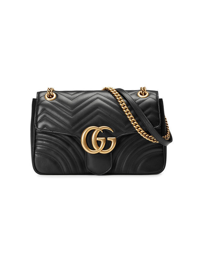 Gucci - GG Marmont matelassé shoulder bag - Damen - Leather/metal/Microfibre - One Size - Black
